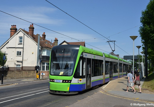 Tram London-Croydon, 2558, Lebanon Road
