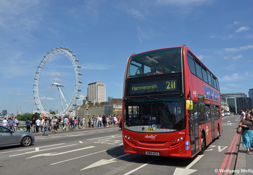 London Bus 9538, Westminster