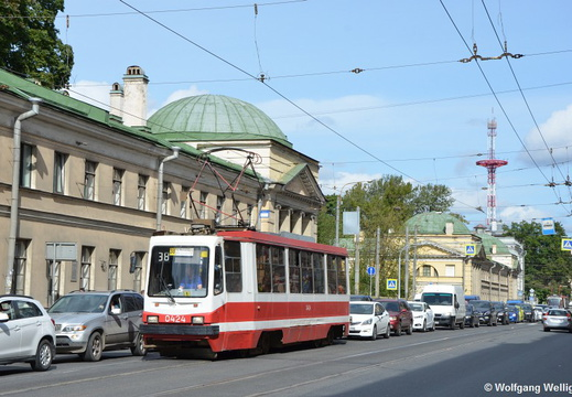 Saint Petersburg Tram, 0424, ул. Комсомола (ulitsa Komsomola)