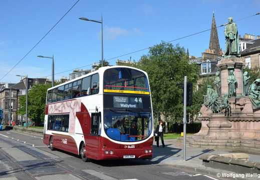 Edinburgh Bus 734, West End-Princes Street