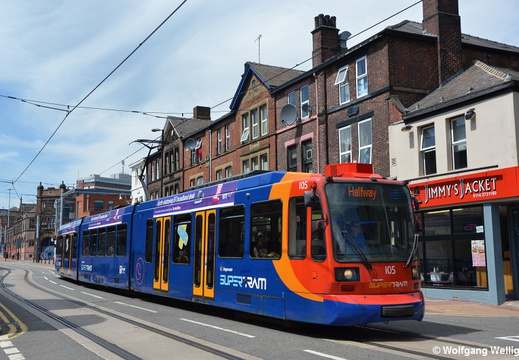 Sheffield Supertram, 105, West Street